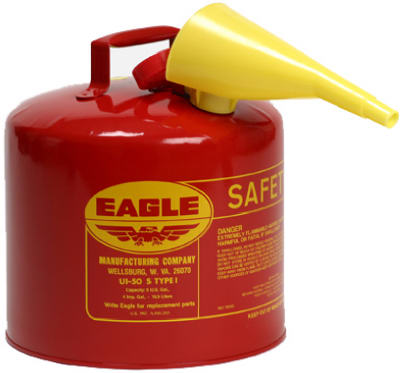 5 GAL TYPE 1 SAFETY GAS CAN-UL APPROVED